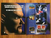Tekken 2 PS1 Playstation 1 1996 Vintage Poster Ad Art Print Promo Heihachi Rare