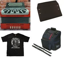 Hohner Compadre MAKE OFFER EAD/Mi Accordion Red Acordeon + Bag_Shirt_Straps_Pad