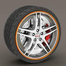 "ORANGE Alloy Wheel Protector Rim Trim Strips 13"" to 22"" RIMBLADES M17/5"
