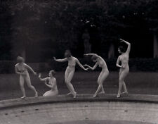 Sublime 5 Denishawn Dancers In Countryside Villa Genthe Camera Negative 1927 WOW