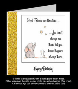 'Friends are Like Stars, they are Always There!' Best Friend Birthday Card