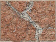 BAD RAGAZ. Malbun Flums Wangs Pizol Sargans Grusch Malans Maienfeld 1913 map