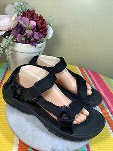 Teva Black Nylon Triple Straps Open Toe Sporty Sandals Men's Size EU 45 US 12 M