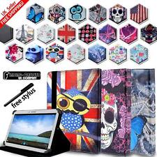 Folio Stand Leather Cover Case For Various Samsung Galaxy Tab Models + STYLUS