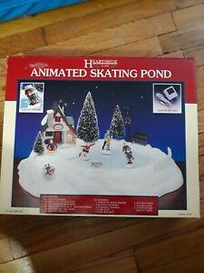 LEMAX  Christmas Hearthside Village Animated Skating Pond 1995 #54106