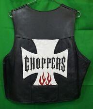 Handmade Leather Custom Chopper Men's Biker Vest XXXL
