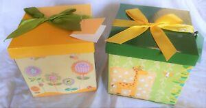 Folded Gift Box Ribbon Present Birthday Christmas Party Jewellery Children Bag