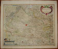 stampa antica Territorio Bolognese 1640 janssonius old print Hondius Bologna
