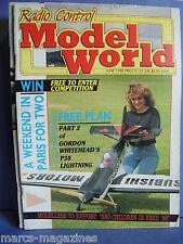 RCMW RC MODEL WORLD JUNE 1988 AUDRA MORRISON  P 38 LIGHTNING PLAN PART 2 ZERO