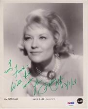 Patti Page (d.2013) Signed 8x10 Photo Autographed Photograph Singer PSA DNA