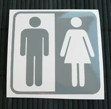 adesivo UOMO e DONNA man and woman sticker decal window vetro wall info bagno