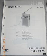SONY ICF-210L 2-Band Radio Service Manual