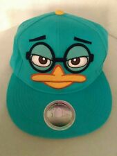 Disney Phineas And Ferb Perry The Platypus Adjustable Teal Snapback Cap Hat