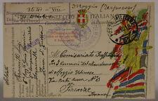 POSTA MILITARE 97 ESERCIZIO DE CAUVILLE  6° GENIO FERROVIERI 29.10.1918  #XP443D