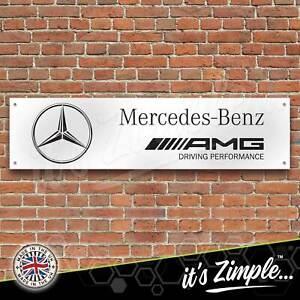 Mercedes Benz AMG Banner Garage Workshop Sign Printed PVC Trackside Display