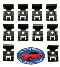 58-64 GM NOSR Impala Front Windshield Rear Window Trim Molding Clips 10pcs EI