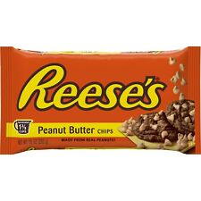 NEW SEALED REESE'S PEANUT BUTTER CHIPS 10 OZ GLUTEN FREE, FREE WORLDWIDE SHIP