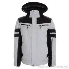 Men's ICEPEAK Ski Jacket In Size 42 (EUR 50) In Grey/Black