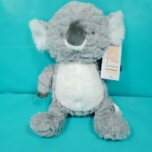 "Carters Just One You Gray White Koala Plush Stuffed Animal Lovey Baby 11"" NEW"