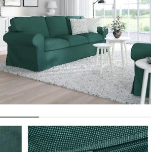 * New Original IKEA cover set for Ektorp 3 seat sofa in Totebo Dark Turquoise