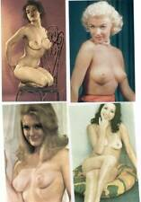 [-294] 4pc Classic Pin-up Nudes (one Marilyn Monroe? or look alike?)