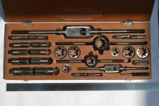 "BRITISH STANDARD PIPE BSP PARALLEL TAP AND DIE SET - 8 SIZE 1/8"" TO 1"" @sf"