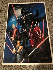 Star Wars Sith Lords Revan Maul Darth Vader Nihilus KOTR Print Signed By McKenna