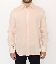 NEW ERMANNO SCERVINO Orange Cotton Striped Casual Shirt Top s. IT50 / L
