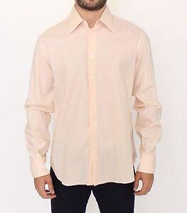NEW ERMANNO SCERVINO Orange Cotton Striped Casual Shirt Top s. IT50 / L