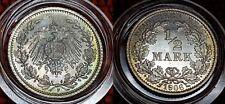 1906 F Mint WILHELM II BU 1/2 Mark German Empire Silver Eagle Coin Lot 6
