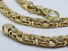 """14K Solid Yellow Gold Italian Byzantine Necklace. 22"""" and 106.85 Grams 5 MM"""