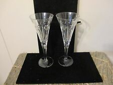 2 Waterford Crystal MILLENNIUM Collection SECOND TOAST LOVE Champagne Flutes