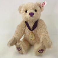Steiff Danbury Mint Teddy Bear Diamond Jubilee 10 Queen Elizabeth Royalty 663659