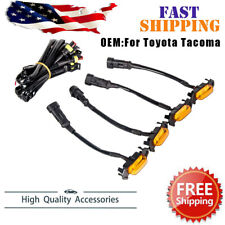 New 4 Pack LED Amber Grille Lights Fit For 2016-2018 2020 Toyota Tacoma TRD PRO