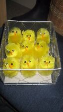 FAB BNIP 9 X FLUFFY YELLOW  EASTER CHICKS SIZE MEDIUM FOR CRAFTS, EGGS, CAKES ..