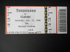 2008 Alabama vs Tennessee Football Ticket Official Reproduction