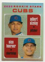 2020 Topps Heritage NICO HOERNER/ADBERT ALZOLAY Chrome Refractor 075/571 Cubs RC