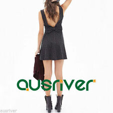 Unbranded Backless Short Sleeve Dresses for Women