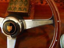 "Jaguar XJ6 XJ40 1986 89 Wood Steering Wheel Nardi Rivets 15"" Engraved Spokes NEW"