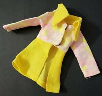 BARBIE DOLL CLOTHES LIGHT PINK & YELLOW VINTAGE TOP SHIRT COLLARED 1970s MOD