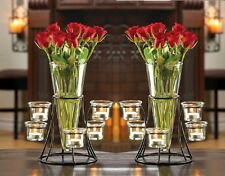 "Wedding Candle Stand With Glass Vase 10 3/4"" (Set of 2) Event Supplies 10015367"