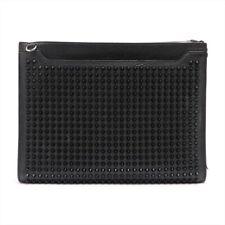Christian Louboutin Sky Studs Leather Shoulder Bag Black