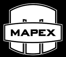 """Mapex Drums New logo 6"""" X 5.5"""" White vinyl sticker, decal for bass drumhead"""