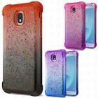 For Samsung Galaxy J3 Star Liquid Glitter TPU Quicksand Cover + Screen Guard