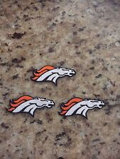(3) Lot DENVER BRONCOS iron on patches 2 3/4 inch