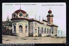 498.-BARCELONA -Ferrocarril Funicular del Tibidabo Gran Café Rest. De la Cúspide