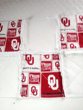 NCAA OKLAHOMA SOONERS RAGGEDY SECURITY BLANKET WITH PACIFIER