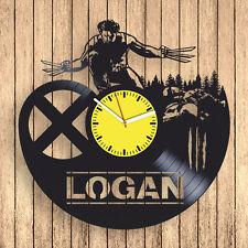 Wolverine Logan Vinyl Record Wall Clock Comics Unique Modern Art Gift ideas
