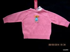 Gymboree Sugar and Spice Coral Pink Gingerbread Girl Sweater 6-9-12 NWT New