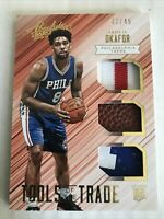 2015-16 Absolute Tools of the Trade Rookie Trio Prime 3 Jahlil Okafor Jersey /49